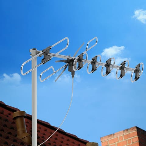 Outdoor Long Range HDTV Antenna Auto Gain Control, UHF Radio