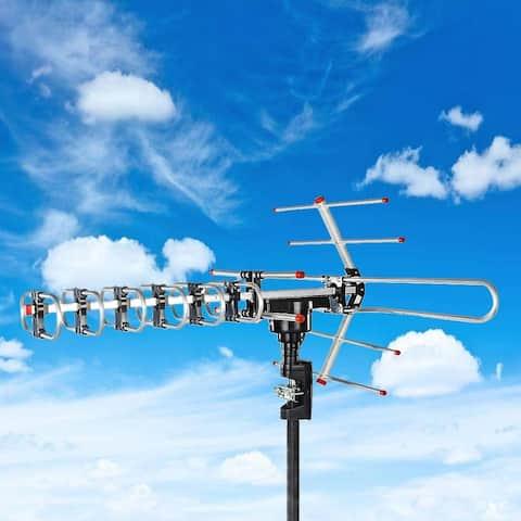 HDTV Outdoor Antenna Long Range with Motorized 360 Degree Rotation