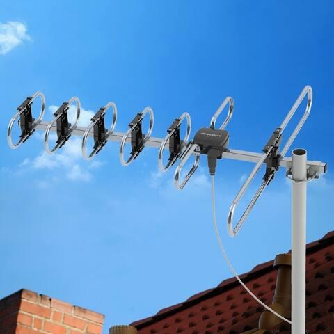 Outdoor HDTV Antenna Long Range Auto Gain Control Long Range