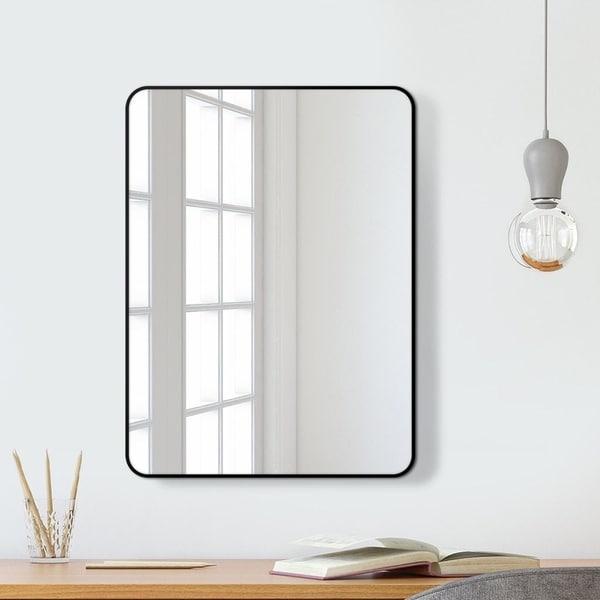 Mirror Trend Metal Beveled Venetian Wall Mirror DM015BK-2230 22''X 30''