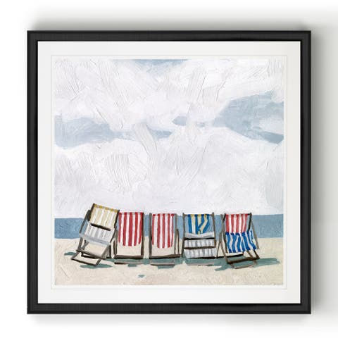 Beach Trip I -Black Framed Print