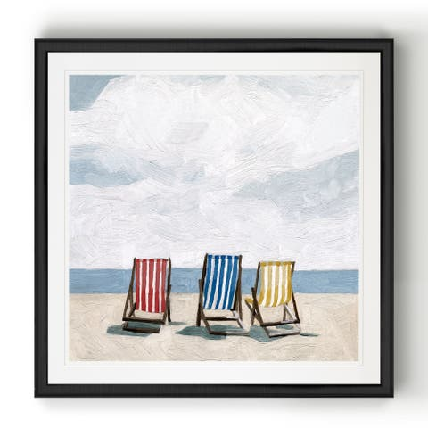 Beach Trip II -Black Framed Print