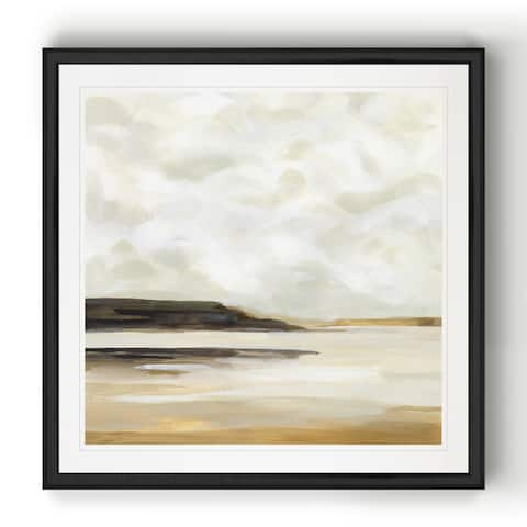 Cloudy Coast I -Black Framed Print