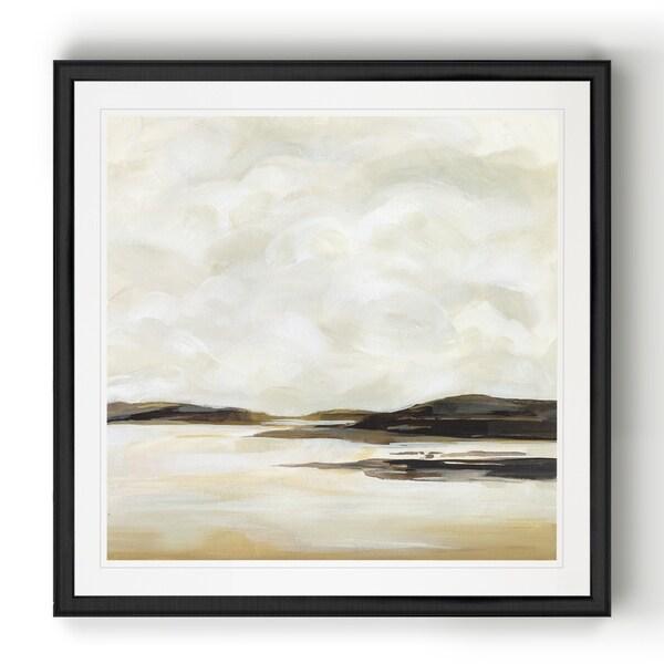 Cloudy Coast II -Black Framed Print