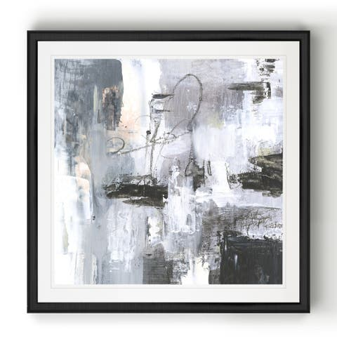 Cinder Composition I -Black Framed Print