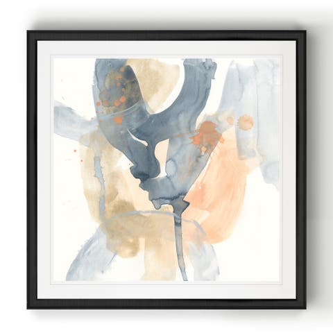 Liquid Blueprint VI -Black Framed Print