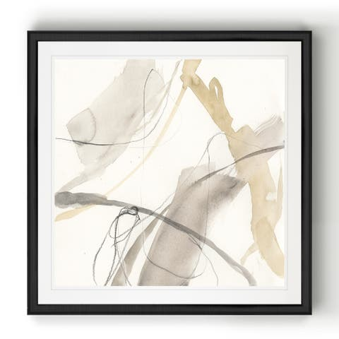 Neutral Momentum II -Black Framed Print
