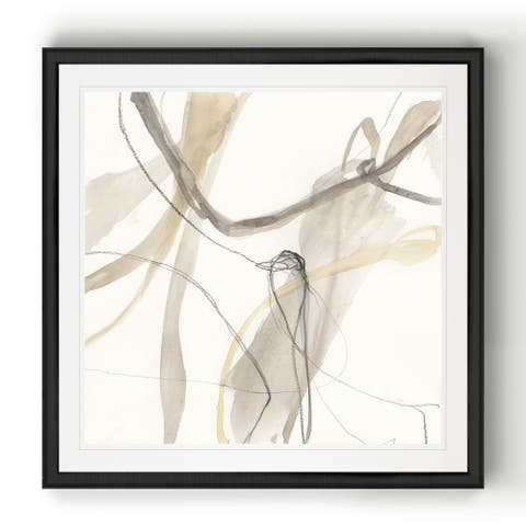Neutral Momentum III -Black Framed Print