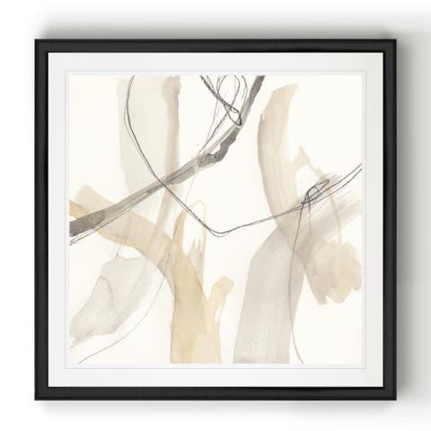 Neutral Momentum I -Black Framed Print