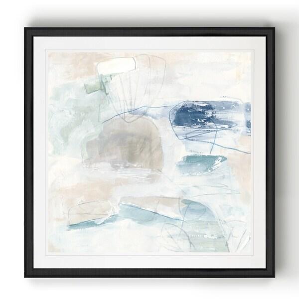Pebble Coast III -Black Framed Print