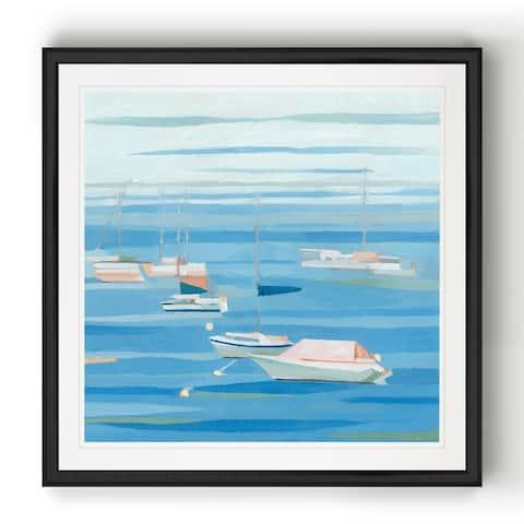 Summer Regatta I -Black Framed Print