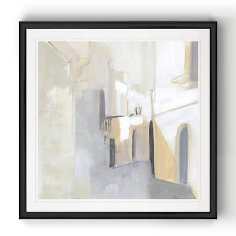 Pausa II -Black Framed Print