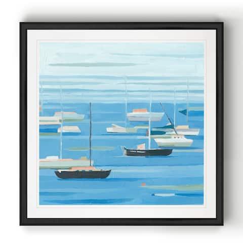 Summer Regatta II -Black Framed Print