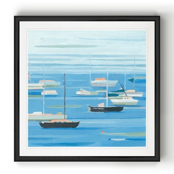 Summer Regatta II -Black Framed Print