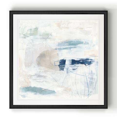 Pebble Coast II -Black Framed Print