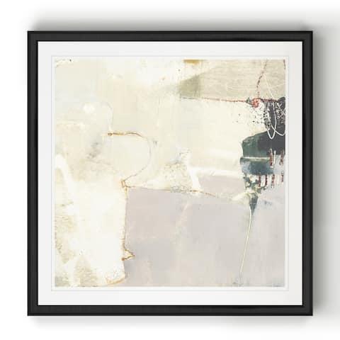 Pique IV -Black Framed Print