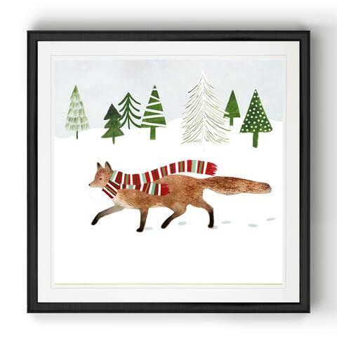 Woodland Christmas II -Black Framed Print