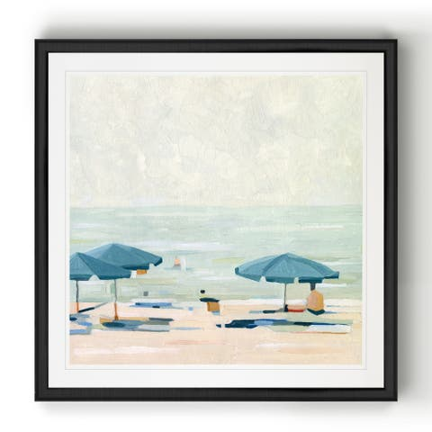 If It's the Beaches II -Black Framed Print