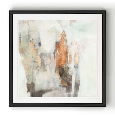 Burnished Mint II -Black Framed Print
