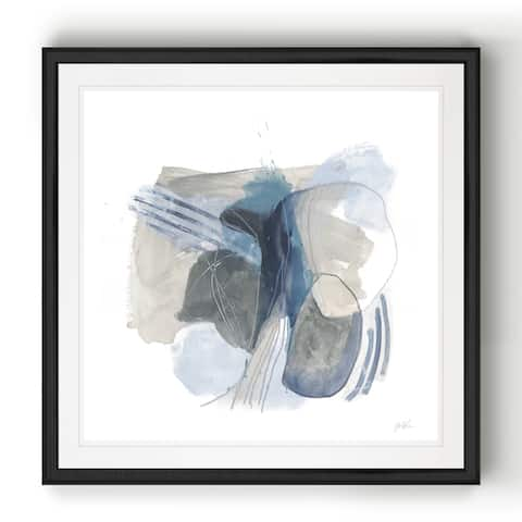 Stone Ellipses I -Black Framed Print