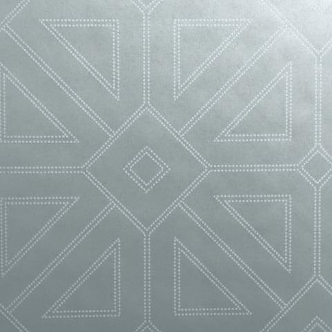 Pelham Silver Geometric Wallpaper