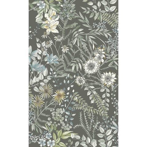 AgnewOff-White Floral Wallpaper