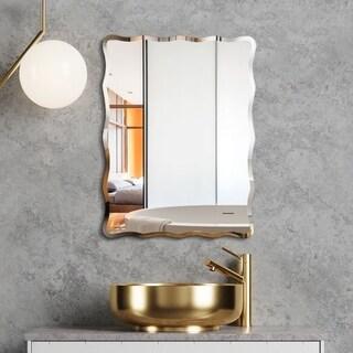 Mirror Trend Wave Beveled Venetian Frameless Wall Mirror DM017-2432 24''X 32''