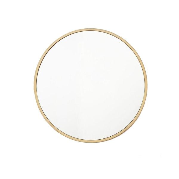 Round Large Gold Mirror