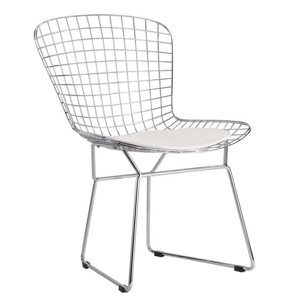 Pleasing Shop Veros Bertoia Style Wire Dining Chair Free Shipping Theyellowbook Wood Chair Design Ideas Theyellowbookinfo