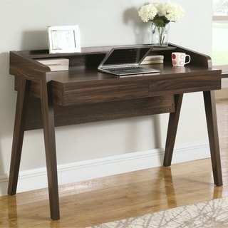 Mid-Century Modern Design Home Office Computer Writing Desk with Mini Hutch