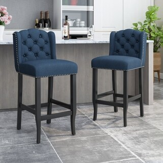 Link to Foxwood Wingback Barstool (Set of 2) by Christopher Knight Home Similar Items in Dining Room & Bar Furniture