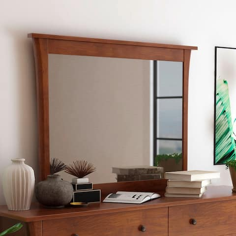 Alessin Transitional Dark Cherry Mirror by FOA - Dark Cherry