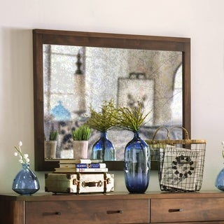 Furniture of America Larc Transitional 43-inch Solid Wood Mirror