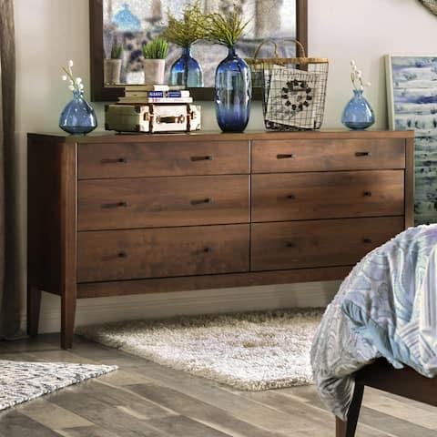 Furniture of America Larc Transitional Solid Wood 6-drawer Dresser