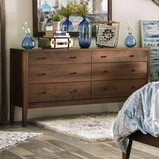 Furniture of America Larc Transitional Solid Wood 6-drawer Dresser