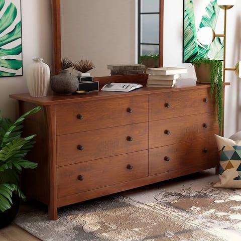 Furniture of America Nisa Transitional Cherry 6-drawer Dresser