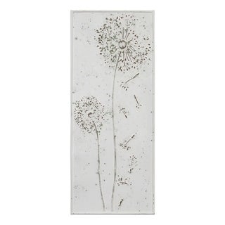 Stratton Home Decor Dandelion Metal Panel Wall Decor