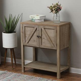 Wood Farmhouse Storage Cabinet