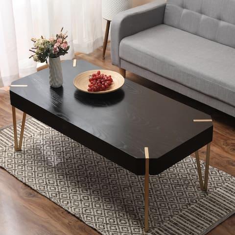 Carson Carrington Tammsberg Wood and Metal Coffee Table