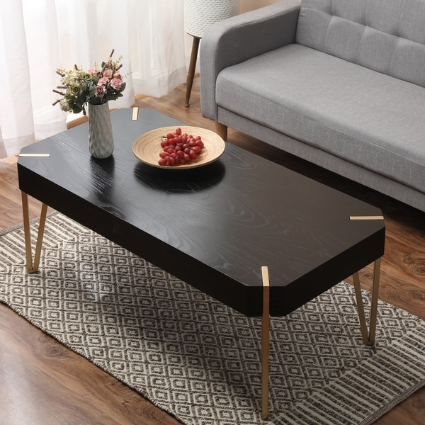 Carson Carrington Tammsberg Wood and Metal Coffee Table