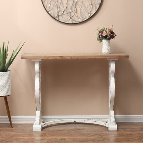 Wood Rustic Vintage Console and Entry Table