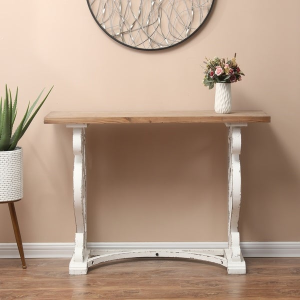 Wood Rustic Vintage Console and Entry Table. Opens flyout.