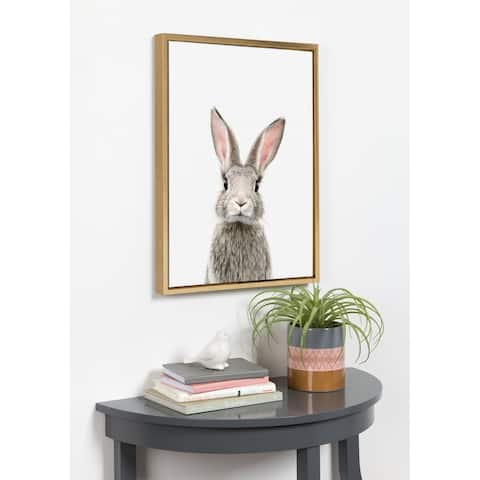 Kate and Laurel Sylvie Female Rabbit Framed Canvas By Amy Peterson