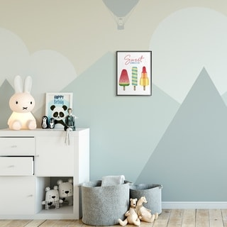 The Kids Room by Stupell Sweet Summertime Ice Creams Kids Nursery Design Framed Wall Art, Proudly Made in USA
