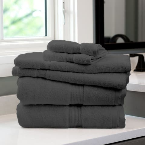 Kotter Home 6-Piece Supima Bath Towel Set