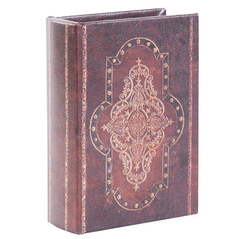 Decorative Vintage Book Style Trinket Storage Box