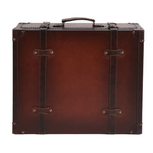 Faux Leather Suitcase