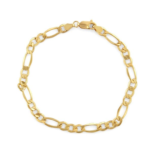 14k Gold Men S 5 65mm Figaro Chain