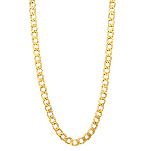 14K Gold Men's 6.5mm Cuban Curb Chain Bracelet by Gioelli Designs