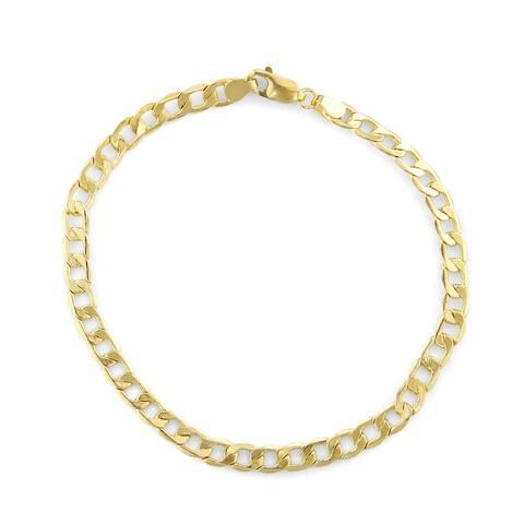 14K Gold Men's 5.65mm Curb Chain Bracelet by Gioelli Designs